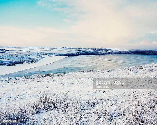 crantock - frozen stock pictures, royalty-free photos & images