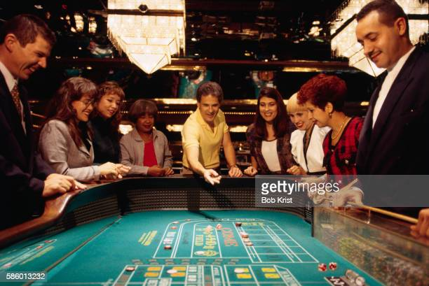 craps table at condado plaza casino - casino stock pictures, royalty-free photos & images