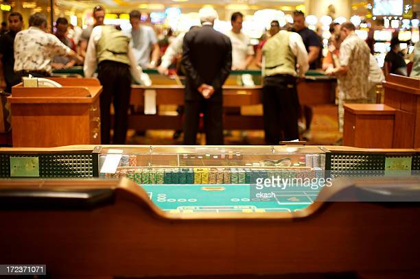 Craps table in action