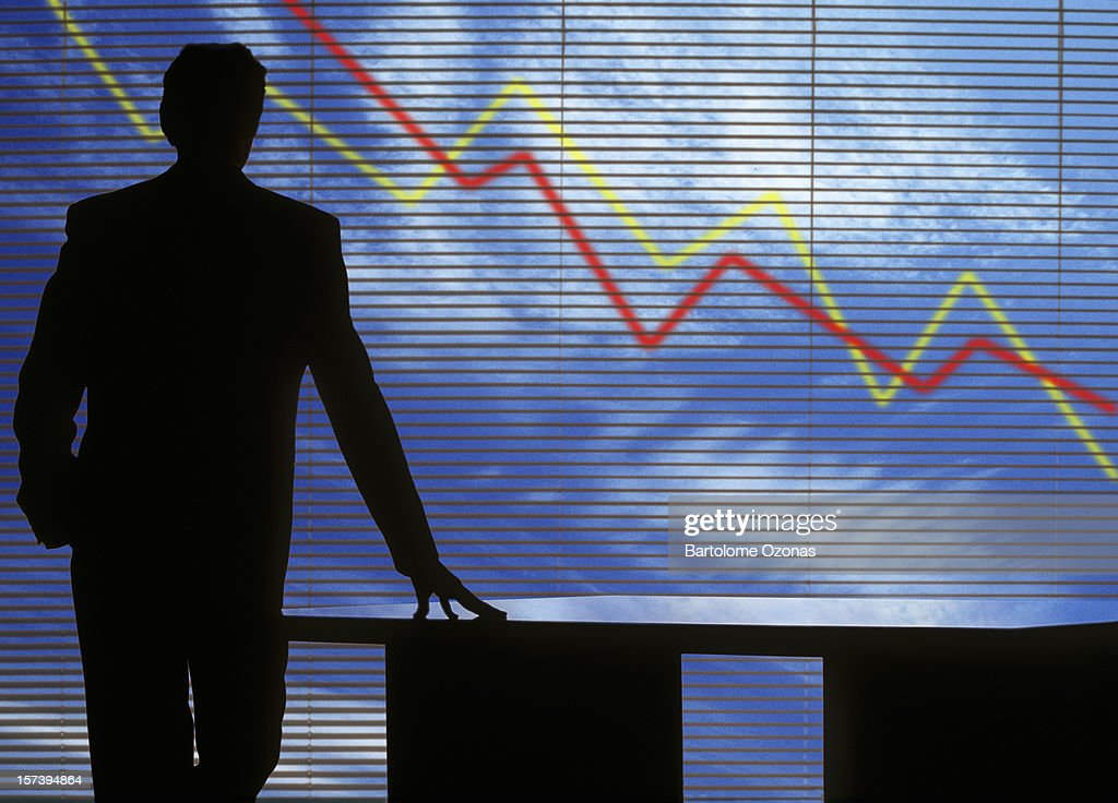Crash in financial crisis : Stock Photo