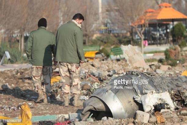 Crash site of a Ukrainian airliner that burst into flames shortly after takeoff from Tehran on Wednesday killing all 176 people aboard in a crash