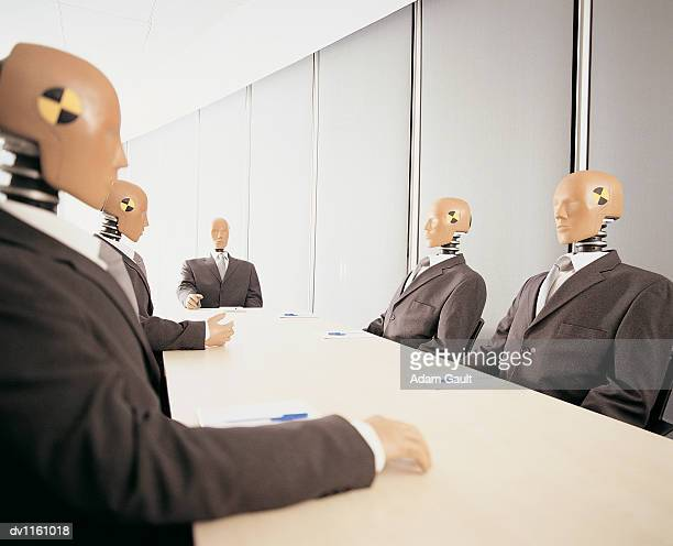 Crash Test Dummies in a Meeting Room