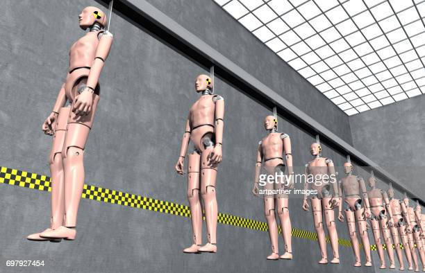 crash test dummies - crash test stock photos and pictures