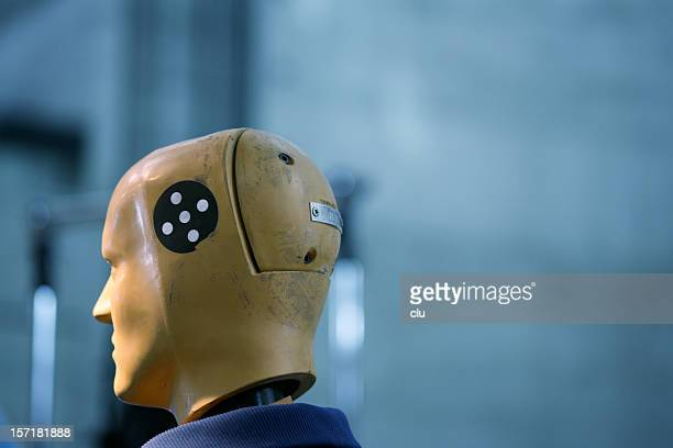 crash test dummy head - car crash wall stock pictures, royalty-free photos & images
