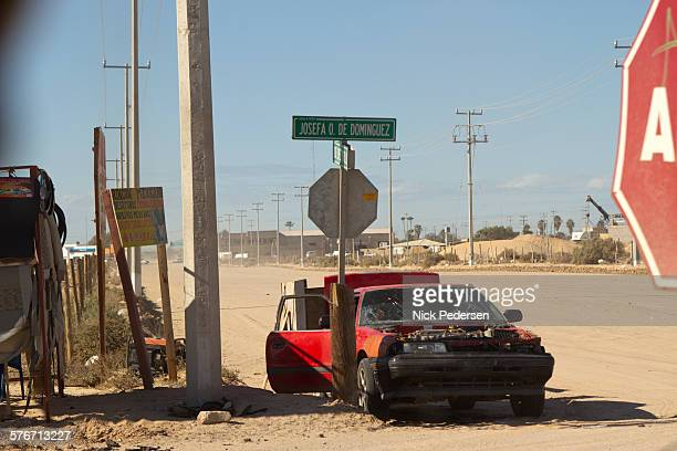 Crashed Car in Mexico