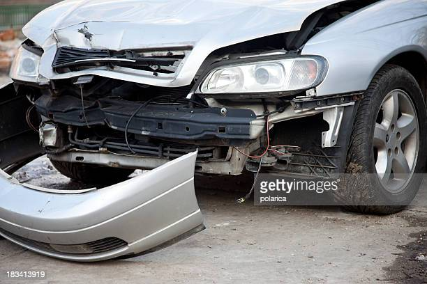 crashed car - bumper stock pictures, royalty-free photos & images