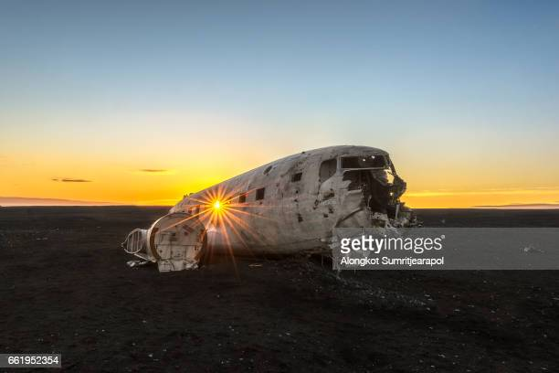 Crashed Plane on Sunset, Solheimasandur, Iceland