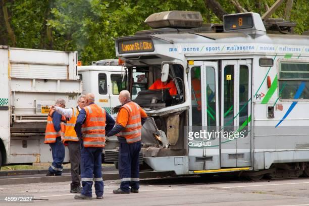Crashed Tram