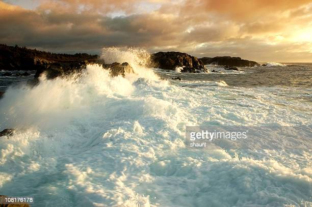 crashing surf - cape breton island stock pictures, royalty-free photos & images