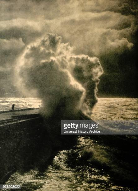 Crashing waves Heligoland by Franz Schensky
