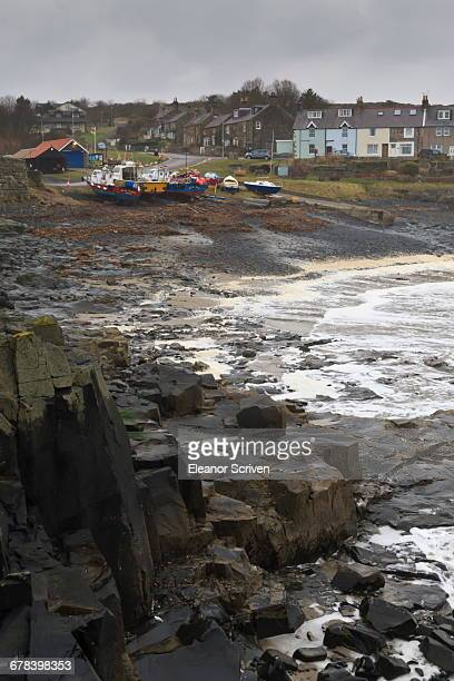 Craster in winter, Craster, Northumberland, England, United Kingdom, Europe