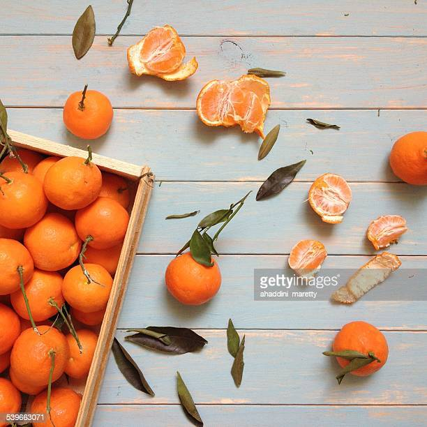 Crate of tangerines
