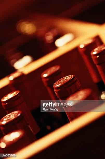 Crate of Wine Bottles