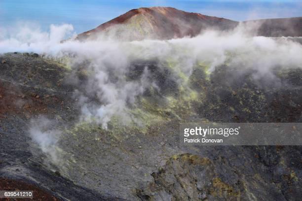 Crater and fumaroles on Vulcano, Aeolian Islands, Italy