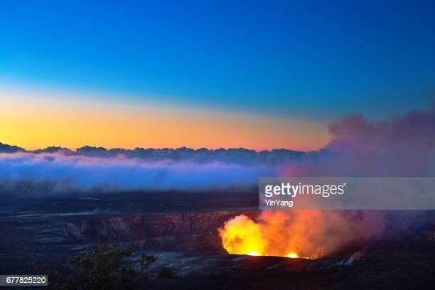 Crater at Hawaii Volcanoes National Park, Big Island, Hawaii