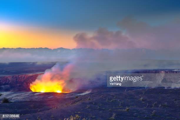 クレーター ハワイ火山国立公園、ビッグ ・ アイランド、ハワイで - ハワイ火山国立公園 ストックフォトと画像