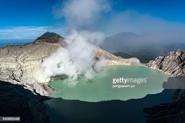 Crater ijen volcano, East Java, Indonesia