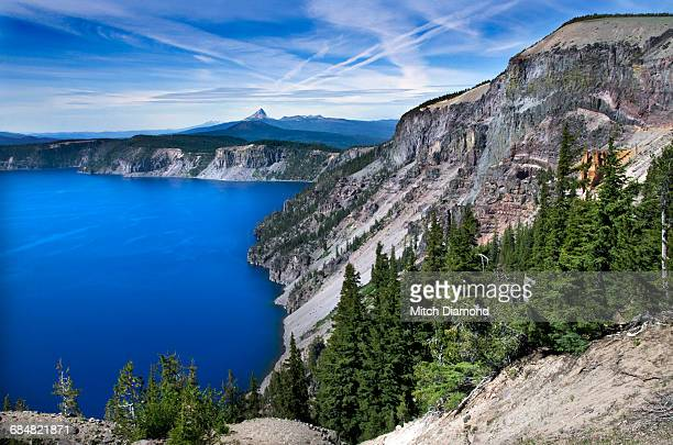 crater lake in oregon - medford oregon stock photos and pictures