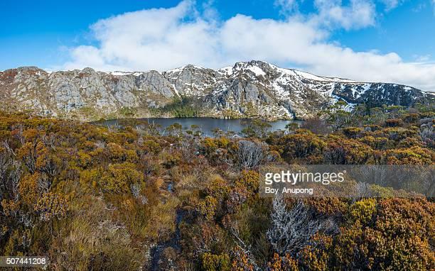Crater lake of Cradle mountain, Tasmania state of Australia.