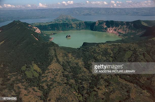 Crater lake of Taal Volcano Luzon Island Philippines