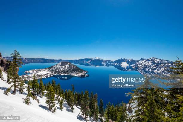 crater lake, oregon - volcanic crater stock photos and pictures