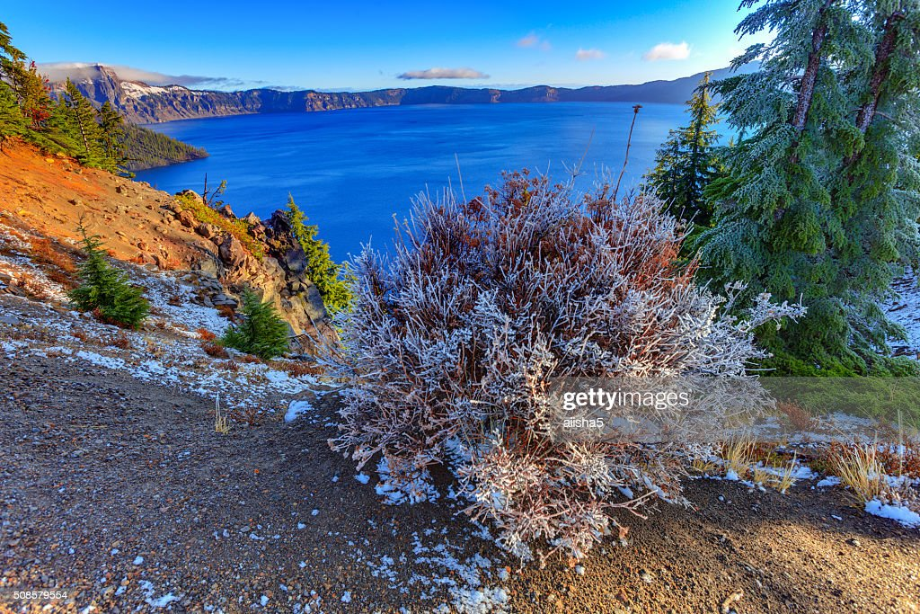 Crater lake view : Stock Photo