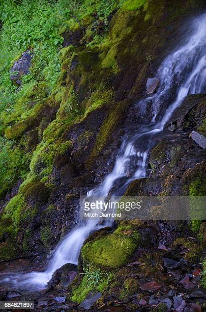 crater lake waterfalls - medford oregon stock photos and pictures