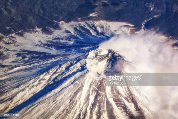 Crater Mouth of Fuji Mountain in Winter