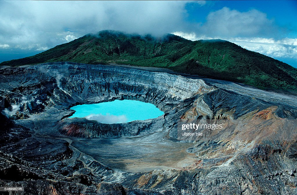 Crater of the Poas Volcano, Costa Rica, South america, Cocos Island, South america, Latin america