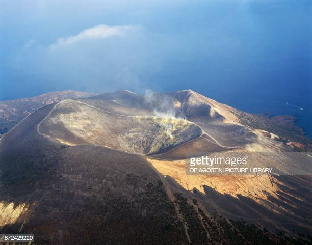 Crater of the Vulcano della Fossa Vulcano Island Aeolian Islands archipelago Tyrrhenian Sea Northern Sicily Italy