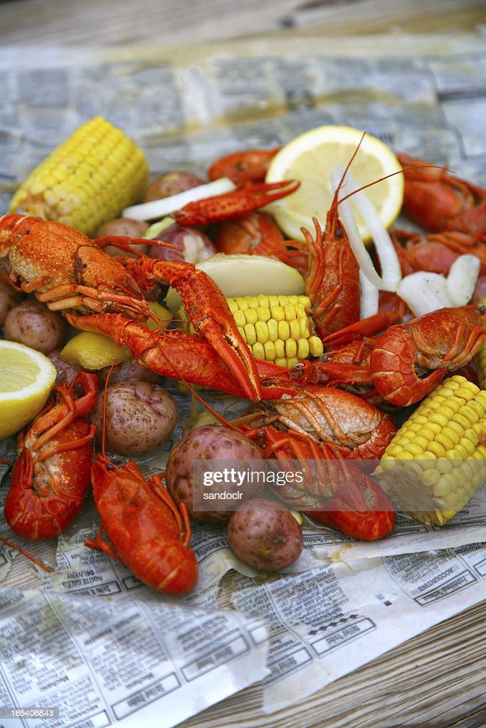 Crawfish boil : Stock Photo