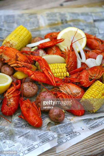 crawfish boil - new orleans stock pictures, royalty-free photos & images