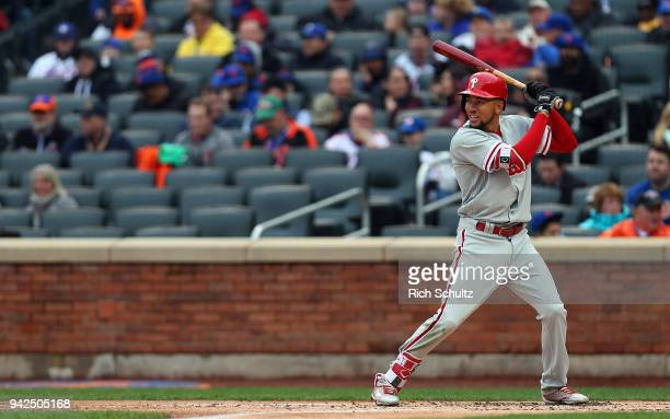 P Crawford of the Philadelphia Phillies in action during a game against the New York Mets at Citi Field on April 4 2018 in the Flushing neighborhood...
