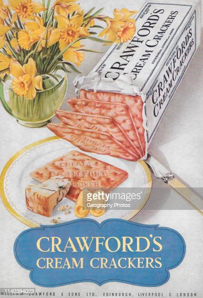 Crawford's cream crackers advert advertising in Country Life magazine UK 1951