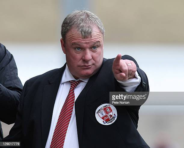 Crawley Town manager Steve Evans looks on during the npower League Two match between Northampton Town and Crawley Town at Sixfields Stadium on...