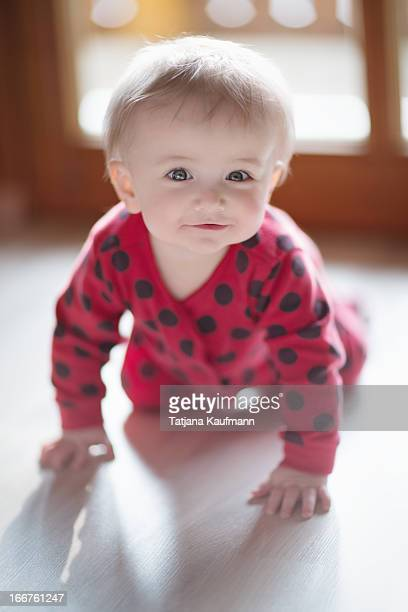 Crawling Baby's funny Smile