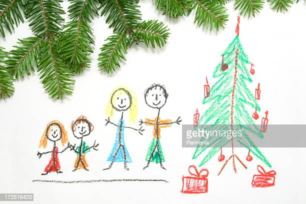 Crayon Drawing about Christmas