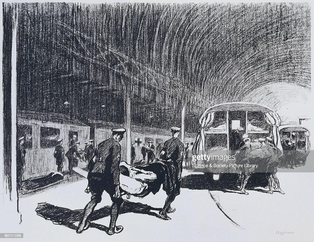 Detraining in England, c 1914-1918. : News Photo