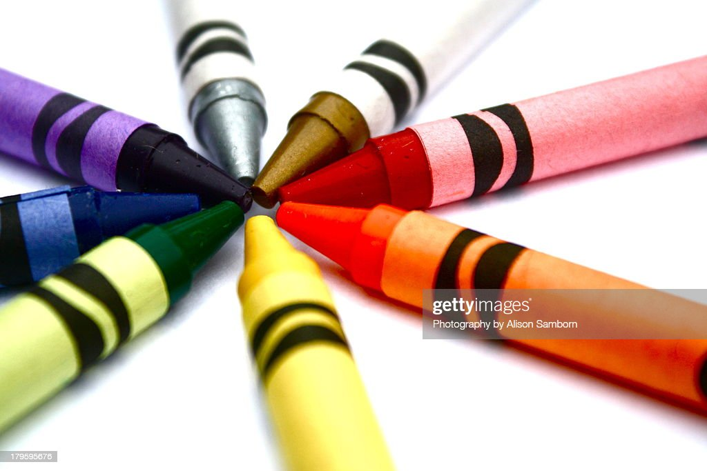 Crayon Pinwheel. : Stock Photo