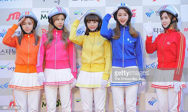 Crayon Pop attend the Gaon Chart K-pop Awards at Olympic Park on February 12, 2014 in Seoul, South Korea.
