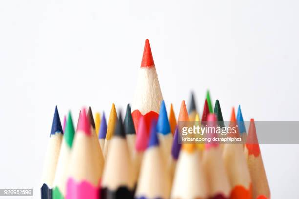 crayon,pencil,business goals - parte de imagens e fotografias de stock