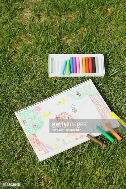 Crayons and drawing