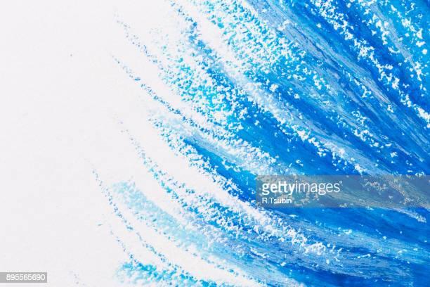 crayons blue frame texture