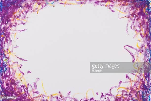crayons blue purple frame texture