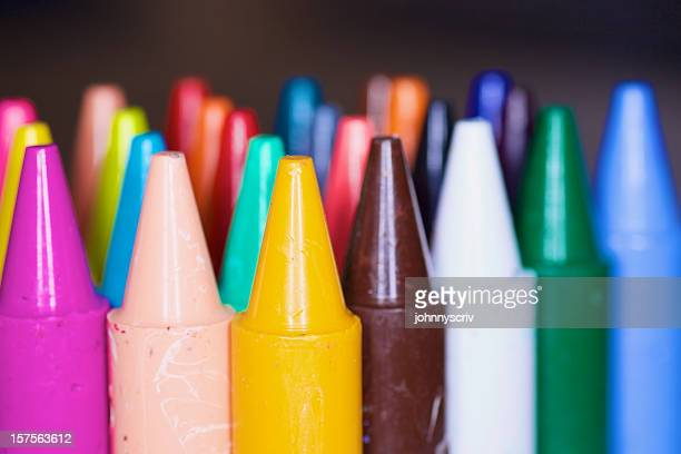 Crayons in a row...