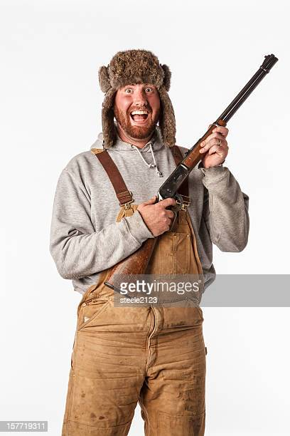 crazed hunter - redneck stock photos and pictures