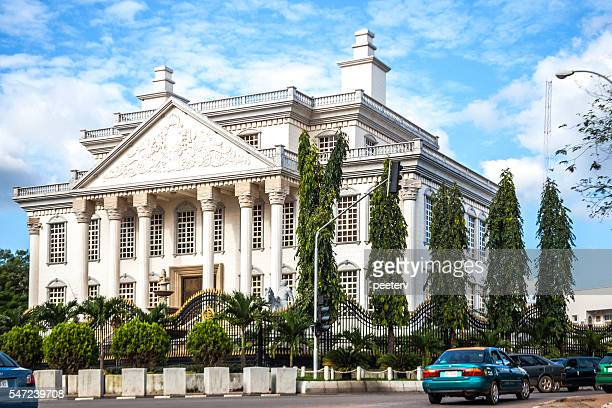 crazy architecture in abuja, nigeria. - nigeria stock pictures, royalty-free photos & images