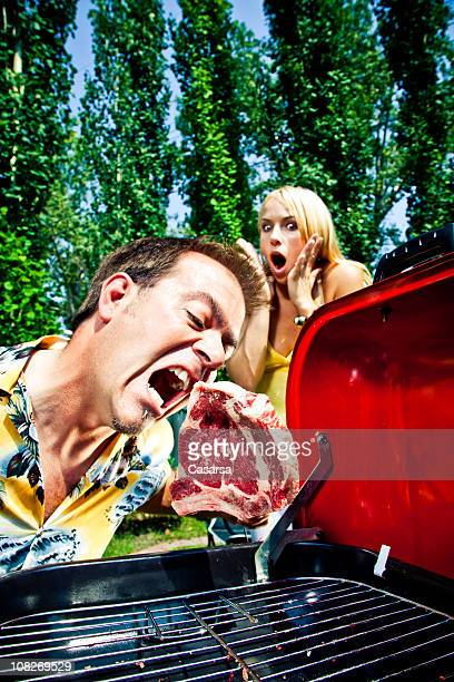 crazy barbecue - funny bbq stock pictures, royalty-free photos & images