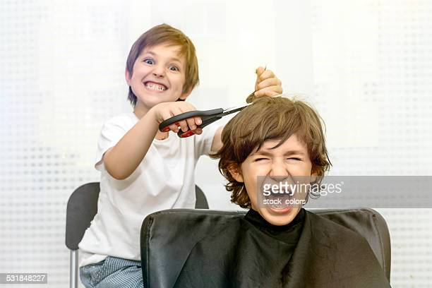 crazy brothers - bad bangs stock pictures, royalty-free photos & images