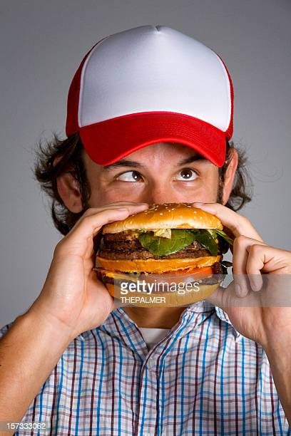 crazy burger - trucker's hat stock pictures, royalty-free photos & images
